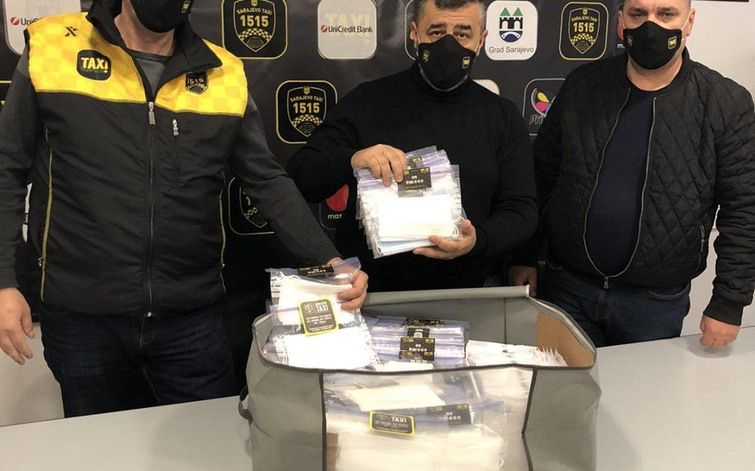 Sarajevo Taxi poklanja 200.000 maski građanima Sarajeva